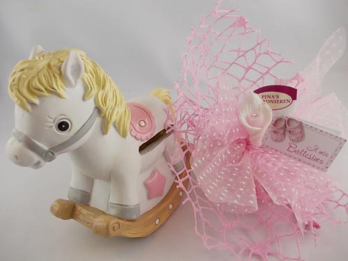 Bomboniere Horse Salvadanaio rosa
