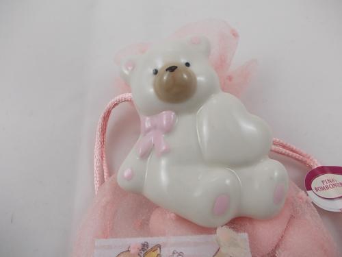 Bomboniere  -  Bärchen mit Herz - Orso con cuore in rosa