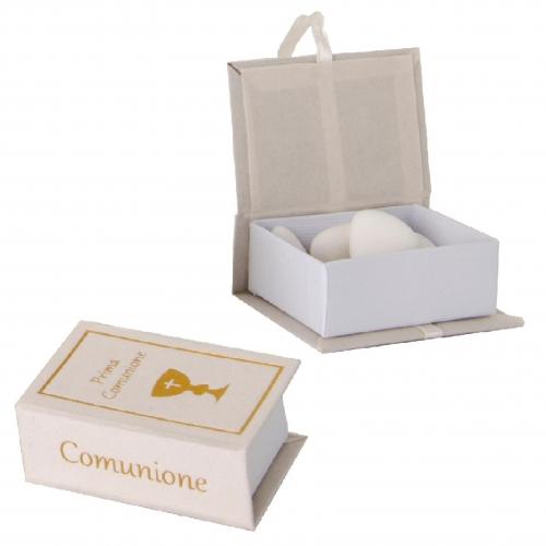 Buch gefüllt mit Confetti per la prima Comunione