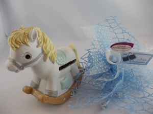 Bomboniere Horse Salvadanaio cielo