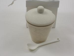 Im Angebot Bomboniere Zuckerdose mit Zuckerlöffel